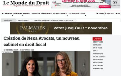 Nouvel article sur Nexa Avocats sur Lemondedudroit.fr
