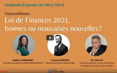 Actualité – Loi de finance 2021
